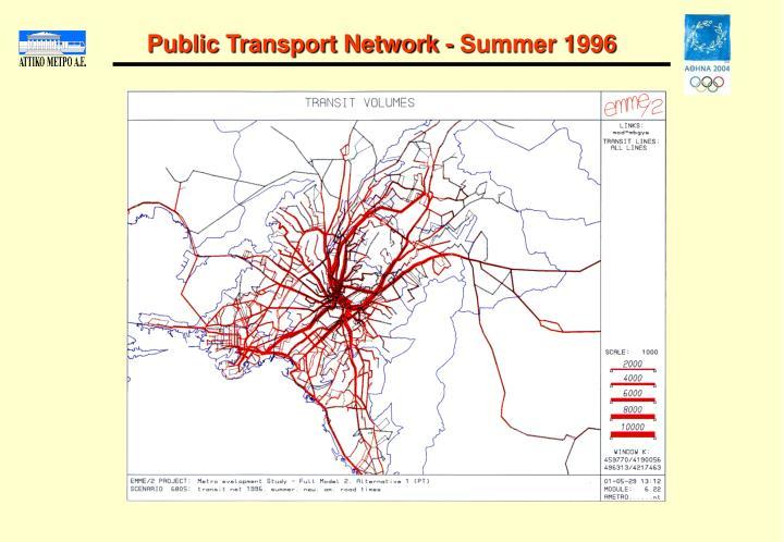 Public Transport Network - Summer 1996