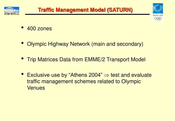 Traffic Management Model (SATURN)