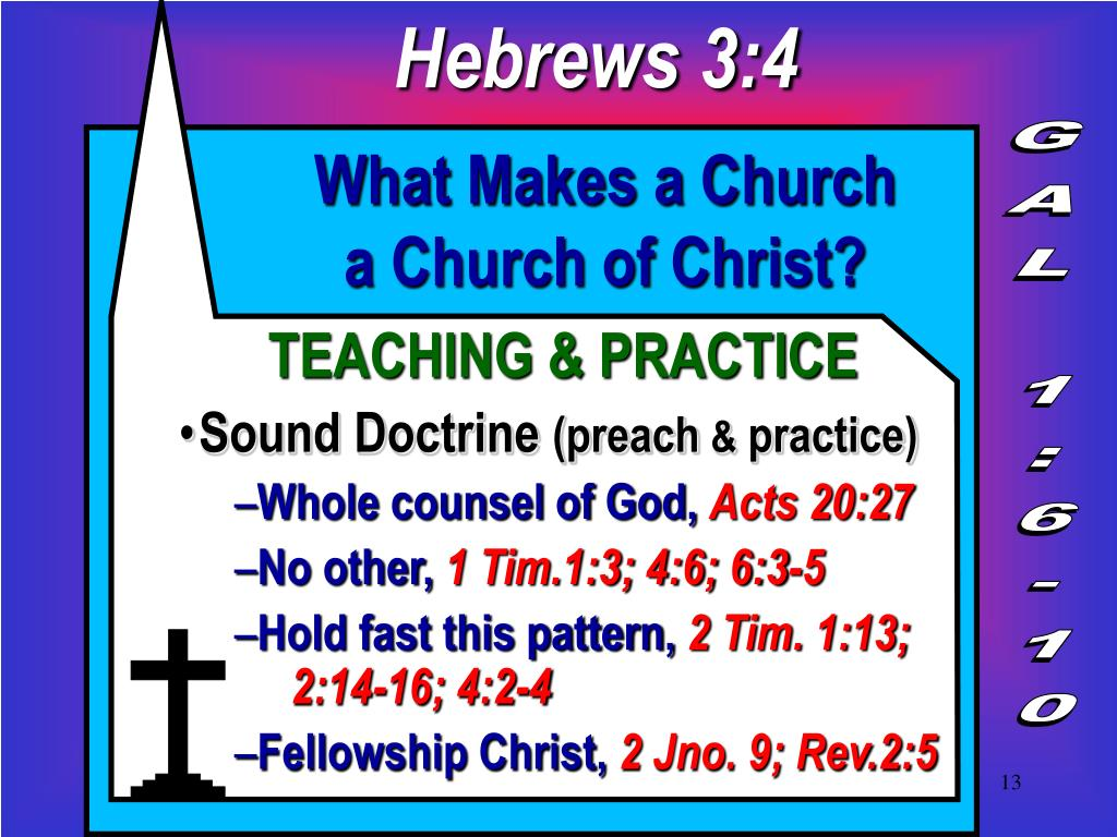 PPT - WHAT MAKES A CHURCH A CHURCH OF CHRIST? PowerPoint