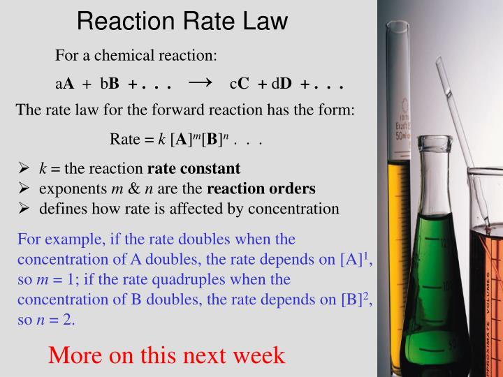 Reaction Rate Law
