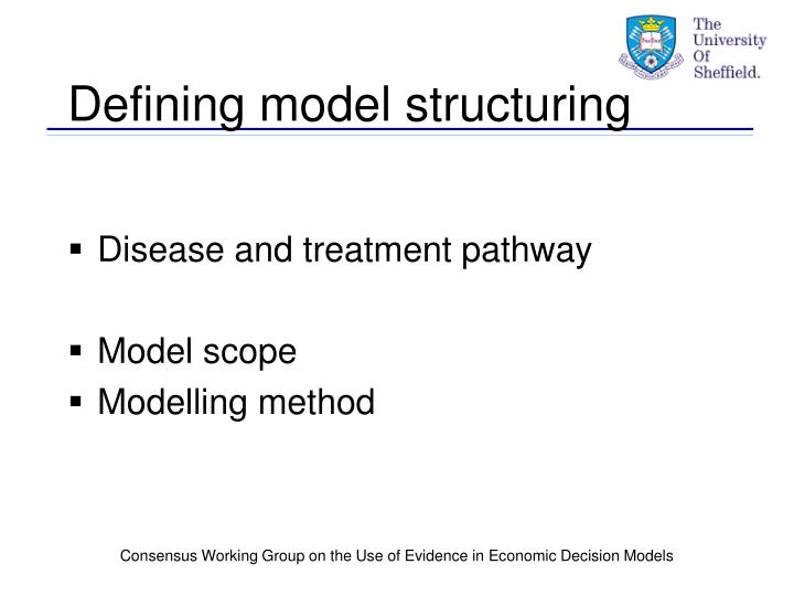 Defining model structuring