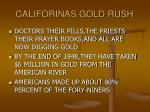 califorinas gold rush