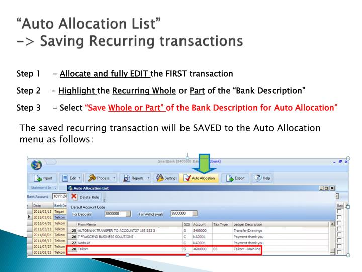 """Auto Allocation List"""