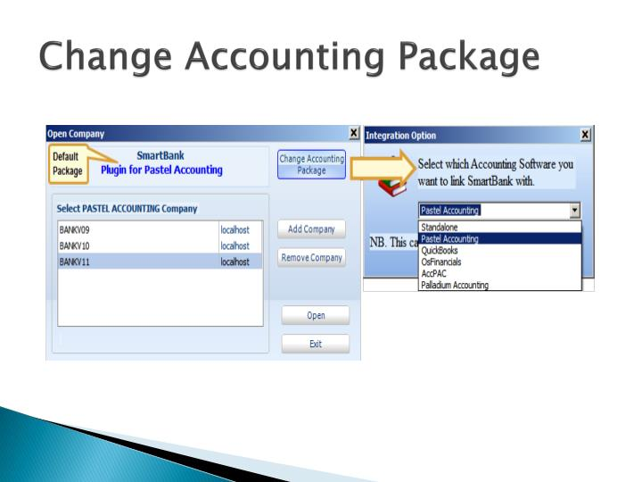 Change Accounting Package