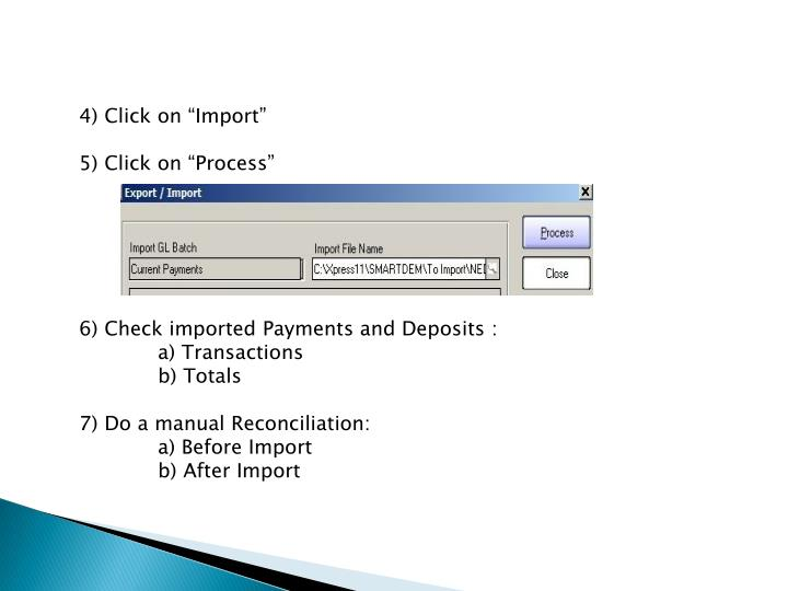 "4) Click on ""Import"""
