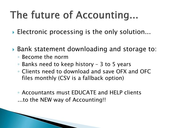 The future of Accounting...