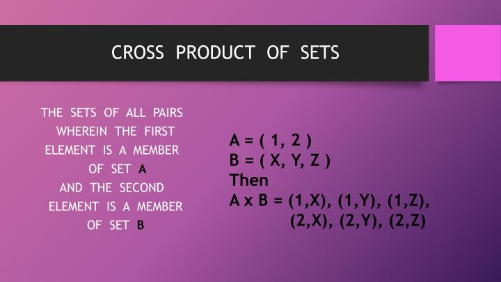 CROSS  PRODUCT  OF  SETS