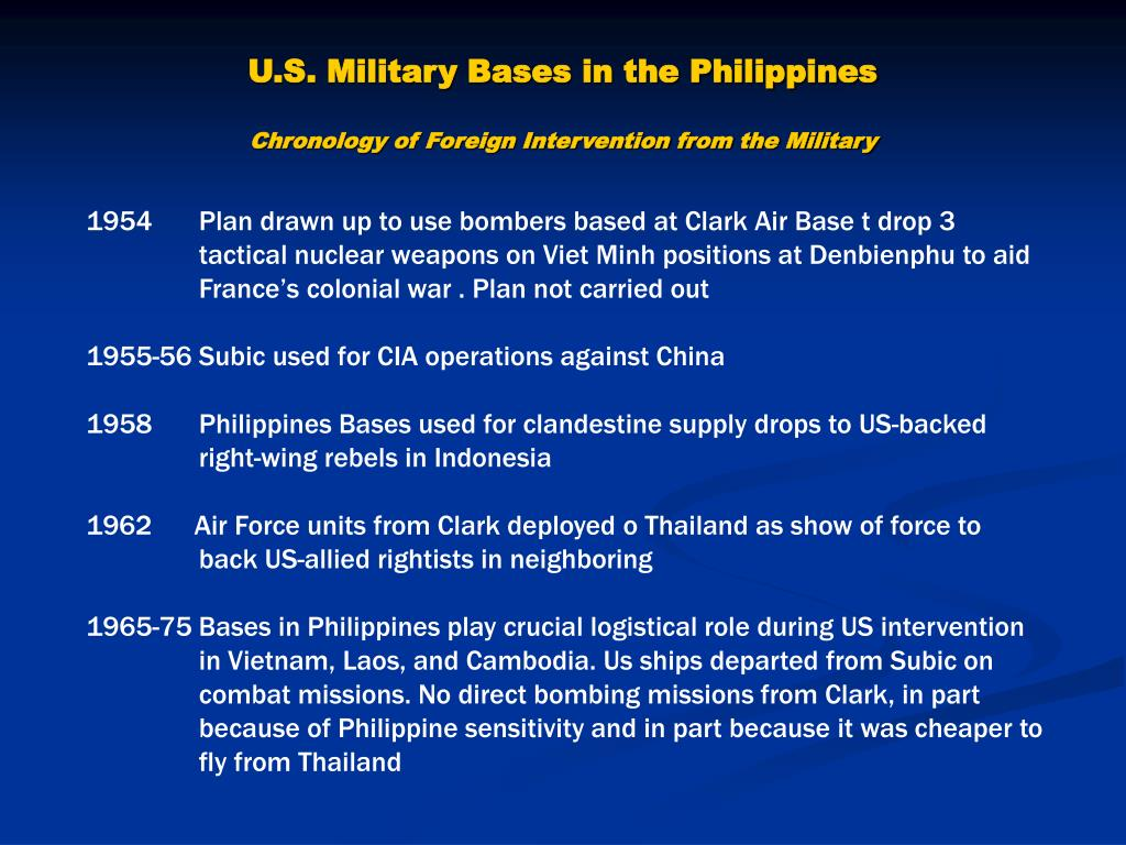 PPT - The US Bases in the Philippines PowerPoint