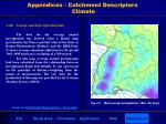appendices catchment descriptors climate