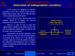 model calibration selection of independent variables