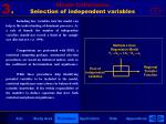 model calibration selection of independent variables1