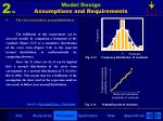 model design assumptions and requirements8