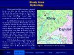 study area hydrology