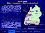 study area s dwestdeutsches schichtstufenland