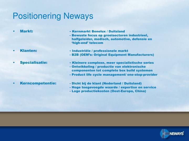 Positionering Neways