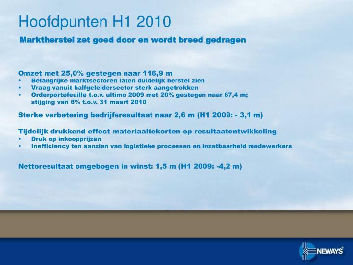 Hoofdpunten H1 2010