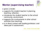 mentor supervising teacher