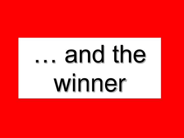… and the winner