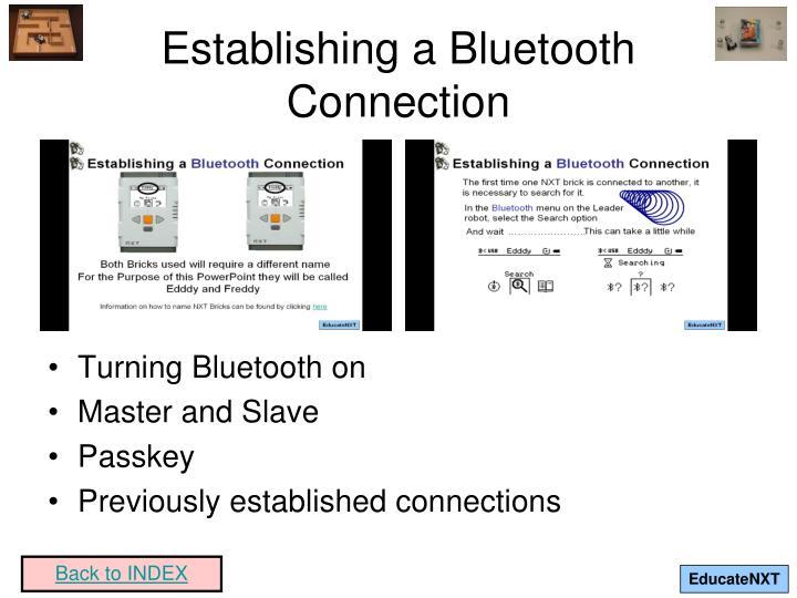 Establishing a Bluetooth Connection