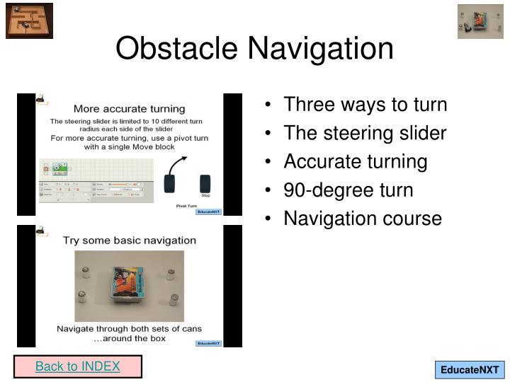 Obstacle Navigation