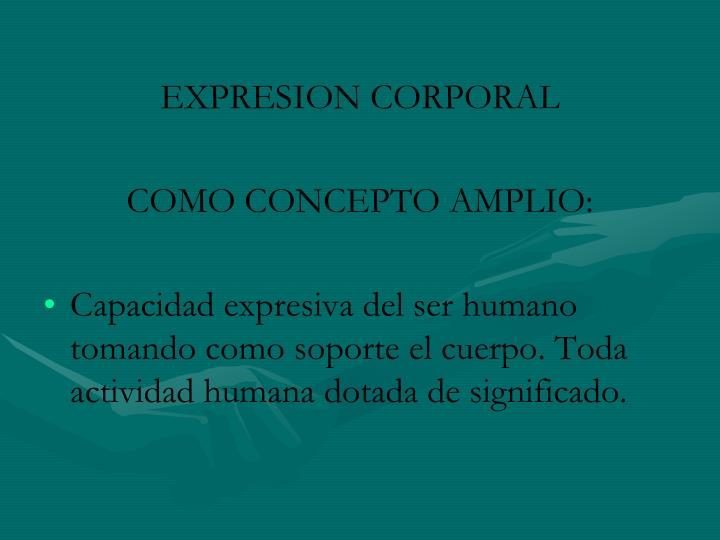 EXPRESION CORPORAL
