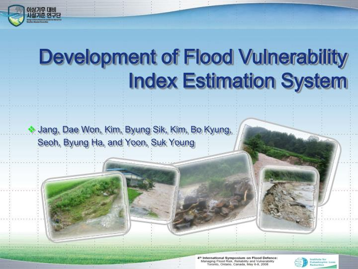 development of flood vulnerability index estimation system