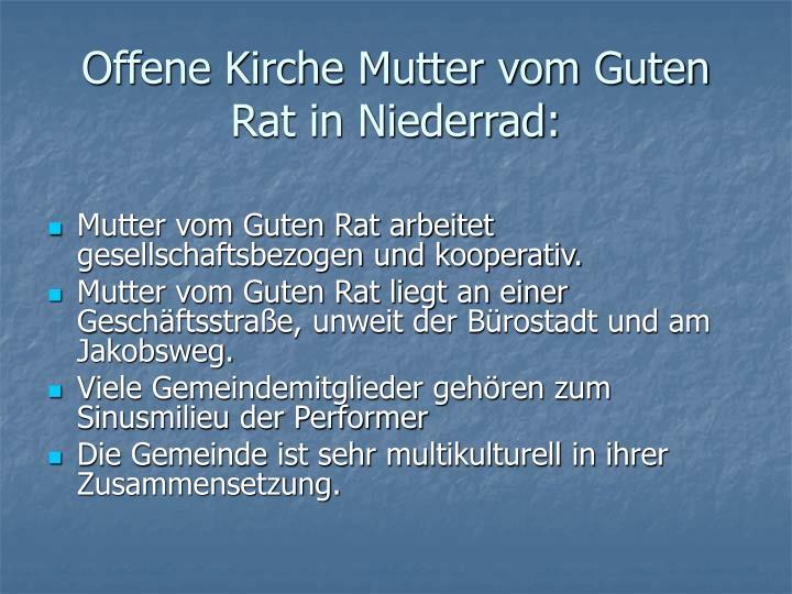 Offene Kirche Mutter vom Guten Rat in Niederrad: