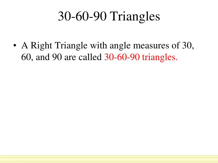 30 60 90 triangles