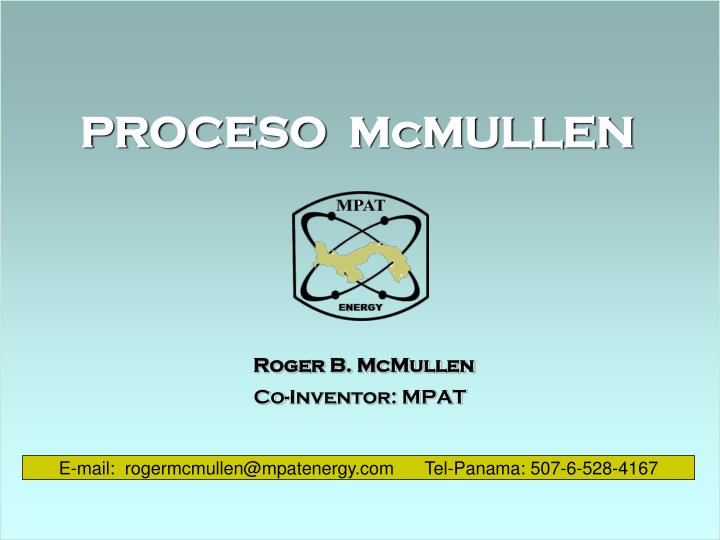 Roger b mcmullen co inventor mpat