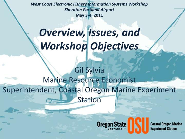 West Coast Electronic Fishery Information Systems Workshop
