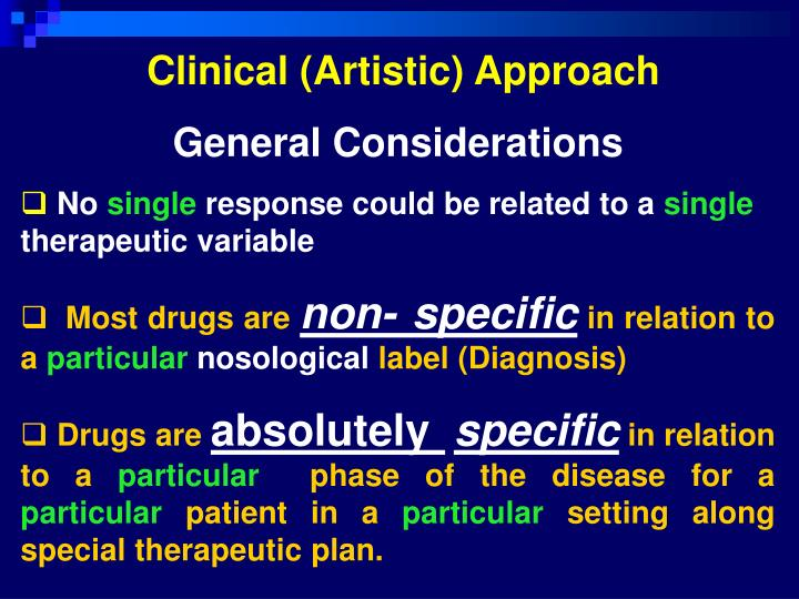 Clinical (Artistic) Approach