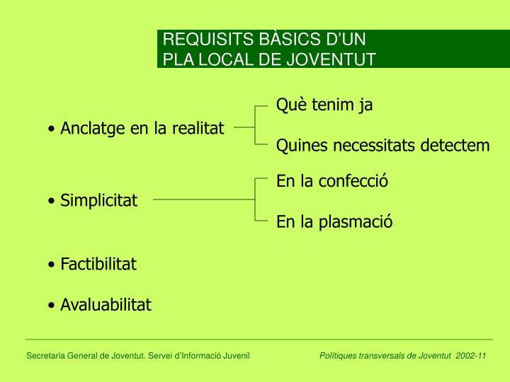 REQUISITS BÀSICS D'UN