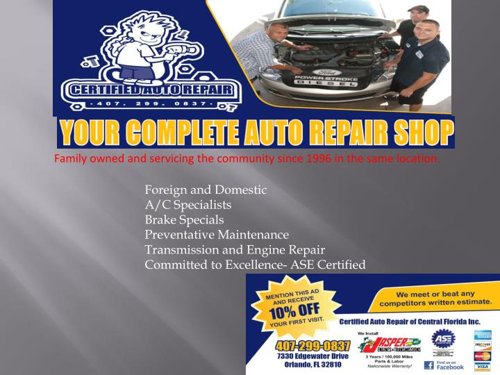 Family owned and servicing the community since 1996 in the same location.