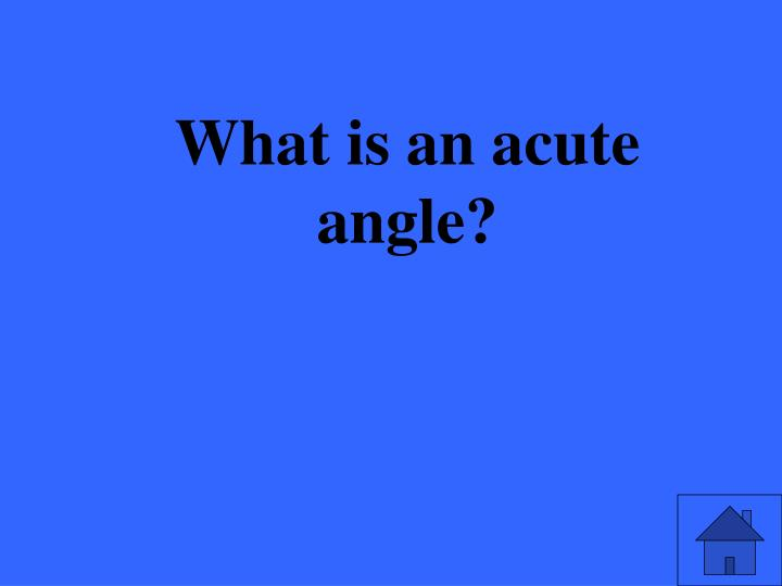 What is an acute angle?