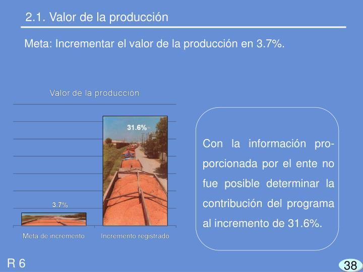 2.1. Valor de la producción