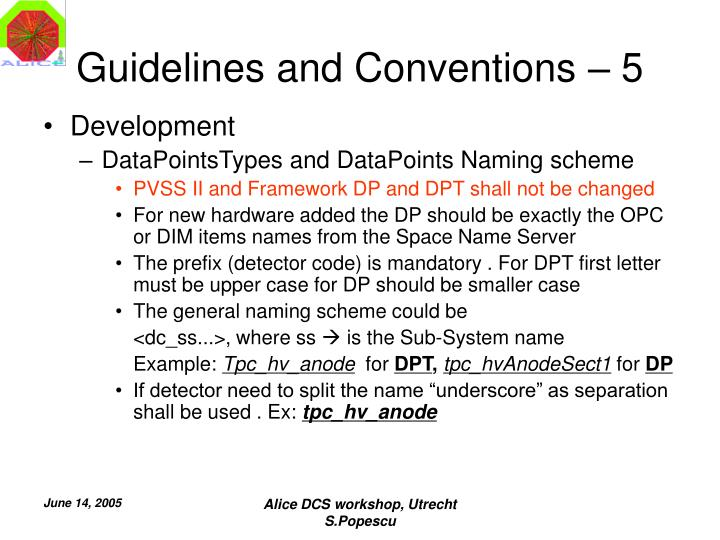 Guidelines and Conventions – 5