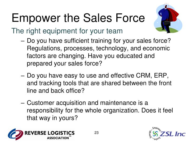 Empower the Sales Force