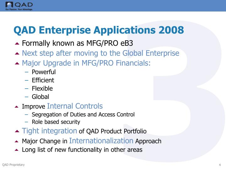 3 major enterprise applications