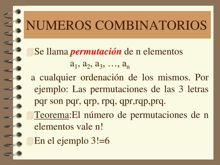 Numeros combinatorios1