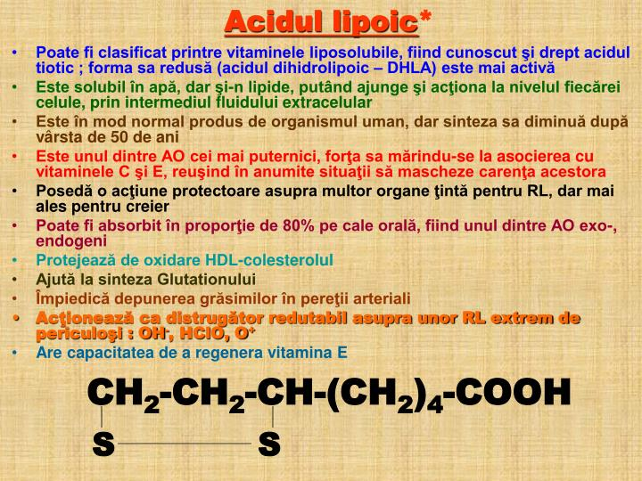 Acidul lipoic