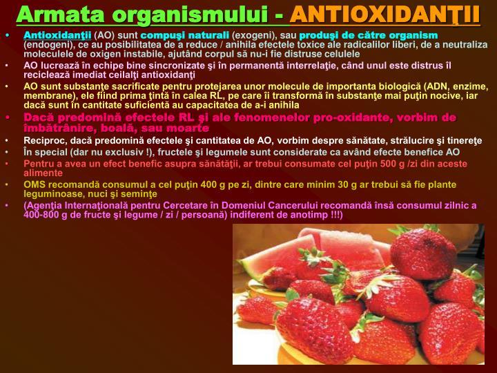 Armata organismului -