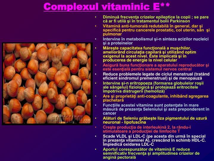 Complexul vitaminic E