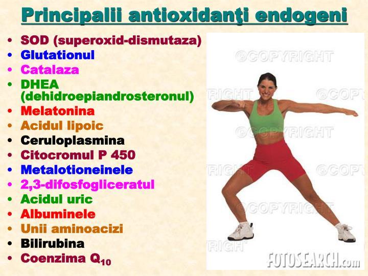 Principalii antioxidanţi endogeni