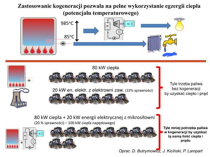Zastosowanie kogeneracji pozwala na pełne wykorzystanie egzergii ciepła