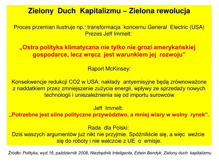 Zielony  Duch  Kapitalizmu – Zielona rewolucja