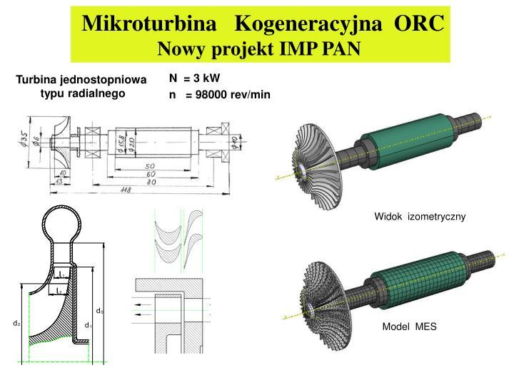 Mikroturbina   Kogeneracyjna  ORC
