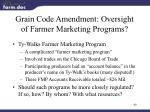 grain code amendment oversight of farmer marketing programs
