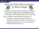 how new rule affects each hat ty walk example