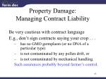 property damage managing contract liability