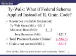 ty walk what if federal scheme applied instead of il grain code